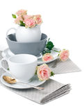 Tableware for tea Stock Photos