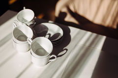 Tableware for tea and coffee Stock Image