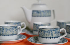 Tableware of the tea. Scene of the tableware of the Japanese tea Royalty Free Stock Photos
