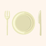 Tableware theme elements vector,eps Stock Images
