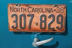 Tablica Rejestracyjna na Antykwarskim samochodzie Zdjęcia Royalty Free