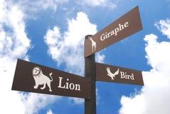 tablica zoo Zdjęcie Royalty Free