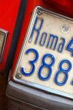 tablicy rejestracyjnej Roma hulajnoga Zdjęcie Stock