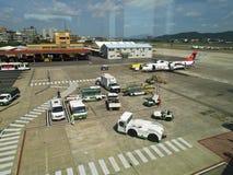 Tablier dans l'aéroport de Taïpeh Songshan Photos stock