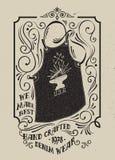 Tablier de forgeron avec un emblème d'une enclume Photos libres de droits