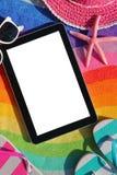 Tablilla con la pantalla en blanco Fotos de archivo