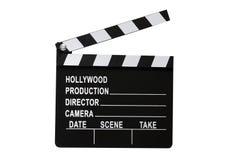 Tablilla de la película aislada Fotografía de archivo