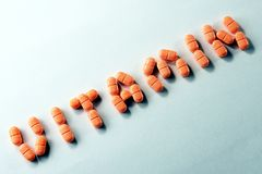 Tablilla de la vitamina C Fotografía de archivo