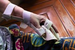 Tablilla del brazo para el tratamiento foto de archivo