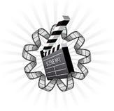 Tablilla del vector y tira de la película Imágenes de archivo libres de regalías