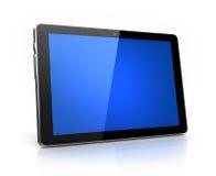 Tablilla digital moderna con la pantalla azul Fotografía de archivo libre de regalías