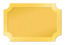 Tablilla enmarcada de oro aplicada con brocha Imagenes de archivo