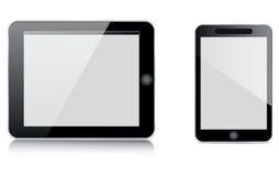 Tablilla y móvil Fotos de archivo libres de regalías