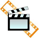 Tablilla y película Imagen de archivo