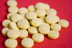 Tablillas de la vitamina B Imágenes de archivo libres de regalías