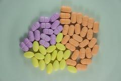 Tablillas de la vitamina C Visión superior Foto de archivo