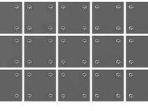 Tablillas metálicas grises Imagenes de archivo