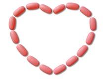 Tabletas para el corazón Imagen de archivo libre de regalías