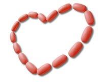Tabletas para el corazón Fotos de archivo