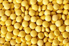 Tablillas redondas del amarillo del brillo Imagenes de archivo