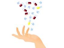 Tablillas y píldoras Imagenes de archivo