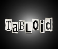 Tabloid concept. Illustration depicting cut out letters arranged to form the word tabloid Royalty Free Stock Image