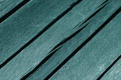 Tablones ciánicos resistidos de madera del color Fotos de archivo