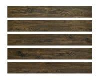 Tablones de madera aislados en el fondo blanco Tablero de madera de Brown Trayectoria de recortes fotografía de archivo libre de regalías