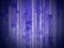 Tablones de madera azules Foto de archivo
