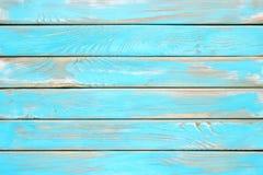 Tablones de madera azules, una superficie de madera lamentable de la tabla de cocina Imagen de archivo