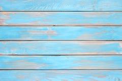 Tablones de madera azules, una superficie de madera lamentable de la tabla de cocina fotos de archivo libres de regalías