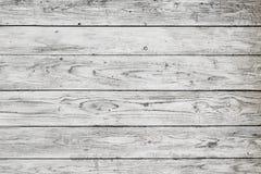 Tablones de madera blancos Foto de archivo
