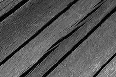 Tablones de madera blancos y negros resistidos Fotografía de archivo libre de regalías