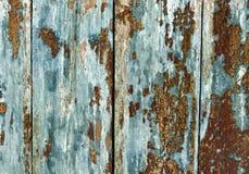 Tablones de madera ciánicos de Weathred Foto de archivo libre de regalías