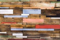 Tablones de madera coloridos Imagen de archivo libre de regalías