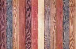 Tablones de madera coloridos del fondo caoba inconsútil y piso marrón de la textura Fotografía de archivo