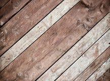 Tablones de madera diagonales foto de archivo libre de regalías