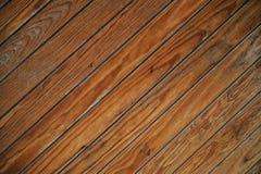 Tablones de madera inclinados Imagen de archivo libre de regalías