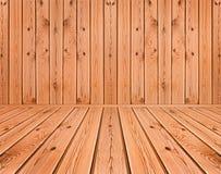 Tablones de madera interiores Foto de archivo libre de regalías