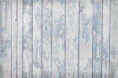 Tablones de madera lamentables, blanco y azul Imagenes de archivo