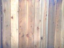 Tablones de madera ligeros de la cerca Fotos de archivo