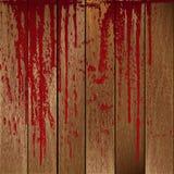 Tablones de madera manchados sangre Imagen de archivo libre de regalías
