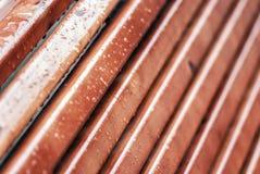 Tablones de madera mojados Foto de archivo libre de regalías