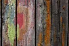 Tablones de madera pintados Foto de archivo libre de regalías