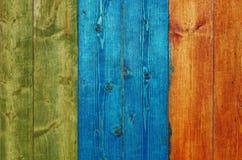 Tablones de madera pintados Fotos de archivo