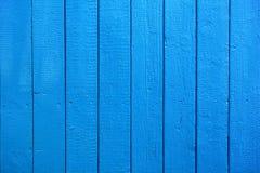 Tablones de madera pintados azules como fondo o textura Imagen de archivo libre de regalías