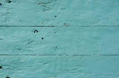 Tablones de madera pintados ciánicos Foto de archivo