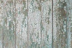 Tablones de madera pintados viejos Foto de archivo libre de regalías