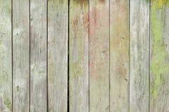 Tablones de madera pintados viejos Imágenes de archivo libres de regalías