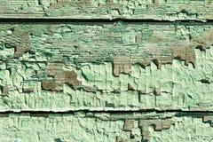 Tablones de madera pintados viejos Imagenes de archivo